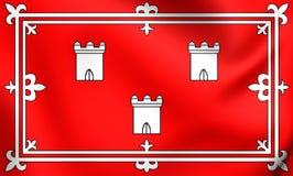 Vlag van Aberdeen, Schotland Stock Foto's