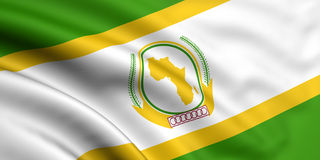 Vlag van Afrikaanse Unie Royalty-vrije Stock Foto's