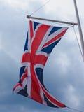 vlag van aka Union Jack van het Verenigd Koninkrijk (het UK) Stock Afbeeldingen