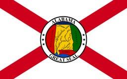 Vlag van Alabama, de V.S. royalty-vrije stock fotografie