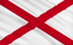 Vlag van Alabama, de V.S. royalty-vrije stock foto