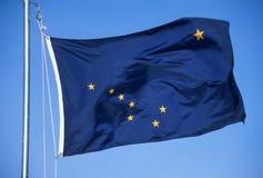 Vlag van Alaska Royalty-vrije Stock Foto's