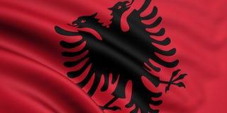 Vlag van Albanië Stock Foto's