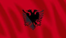 Vlag van Albanië royalty-vrije illustratie