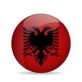 vlag van Albanië Vector illustratie Royalty-vrije Stock Foto's