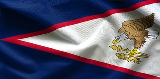 Vlag van Amerikaans Samoa stock afbeelding