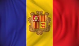 Vlag van Andorra vector illustratie