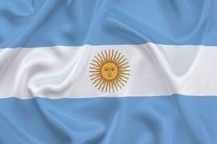 Vlag van Argentinië Stock Fotografie