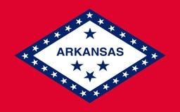 Vlag van Arkansas, de V stock foto's