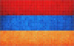 Vlag van Armenië stock illustratie