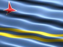 Vlag van Aruba Royalty-vrije Stock Foto