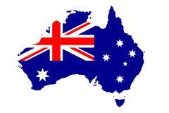 Vlag van Australië Royalty-vrije Stock Afbeelding