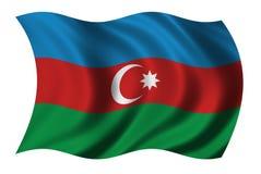 Vlag van Azerbaijan stock illustratie