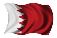 Vlag van Bahrein Stock Afbeeldingen