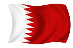 Vlag van Bahrein Stock Fotografie
