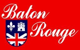 Vlag van Baton Rouge in Louisiane, de V.S. stock afbeeldingen