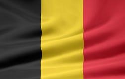 Vlag van België stock illustratie