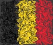 Vlag van België - het het branden gesmeerde ontwerp van de kleurenvlag vector illustratie