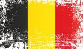 Vlag van Belgi? Gerimpelde vuile vlekken vector illustratie