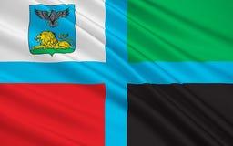 Vlag van Belgorod Oblast, Russische Federatie royalty-vrije illustratie