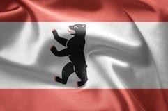 Vlag van Berlijn, Duitsland Royalty-vrije Stock Fotografie