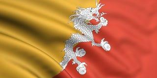 Vlag van Bhutan Stock Fotografie