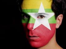 Vlag van Birma stock foto's