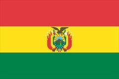 vlag van Bolivië stock illustratie