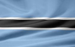 Vlag van Botswana royalty-vrije illustratie