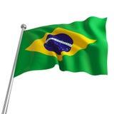 Vlag van Brazilië Stock Fotografie