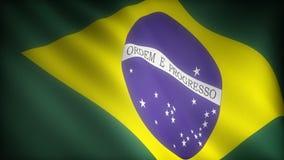 Vlag van Brazilië royalty-vrije illustratie