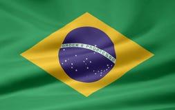 Vlag van Brazilië stock illustratie