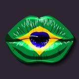 Vlag van Brazilië vector illustratie