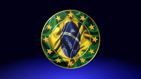 Vlag van Brazilië, animatie royalty-vrije illustratie