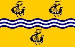 Vlag van Buitenhebrides van Schotland, het Verenigd Koninkrijk van Grote Brit Stock Foto