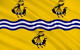 Vlag van Buitenhebrides van Schotland, het Verenigd Koninkrijk van Grote Brit Royalty-vrije Stock Fotografie