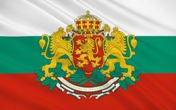 Vlag van Bulgarije stock afbeelding