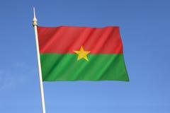 Vlag van Burkina Faso Stock Foto