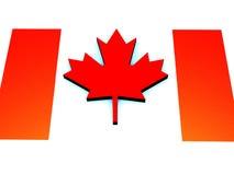 Vlag van Canada, illustratie tegen dag van Canada. Stock Afbeeldingen