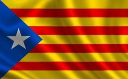 Vlag van Catalonië Stock Afbeeldingen