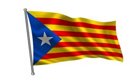 Vlag van Catalonië Stock Afbeelding