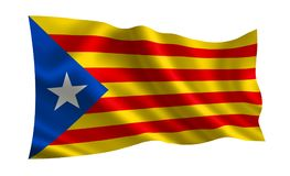 Vlag van Catalonië Royalty-vrije Stock Foto