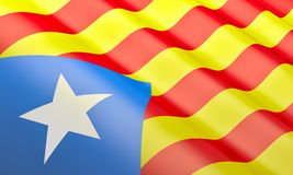 Vlag van Catalonië Royalty-vrije Stock Afbeelding