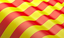 Vlag van Catalonië Stock Foto