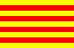 Vlag van Catalonië Royalty-vrije Stock Foto's