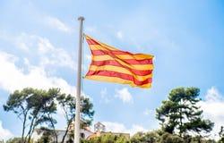 Vlag van Catalonië Stock Foto's