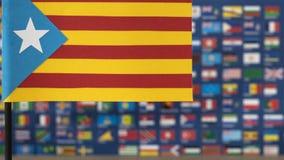 Vlag van Catalonië van de wereldkaart Royalty-vrije Stock Foto's