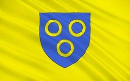 Vlag van chalon-sur-Saone, Frankrijk royalty-vrije illustratie