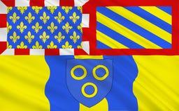 Vlag van chalon-sur-Saone, Frankrijk stock illustratie