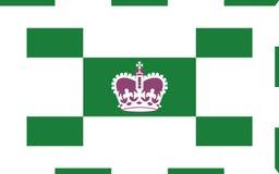 Vlag van Charlottetown in Prins Edward Island, Canada royalty-vrije illustratie